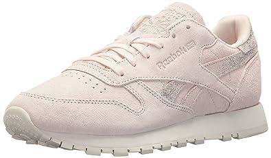 1b5a556921b Reebok Women s CL LTHR Shimmer Sneaker