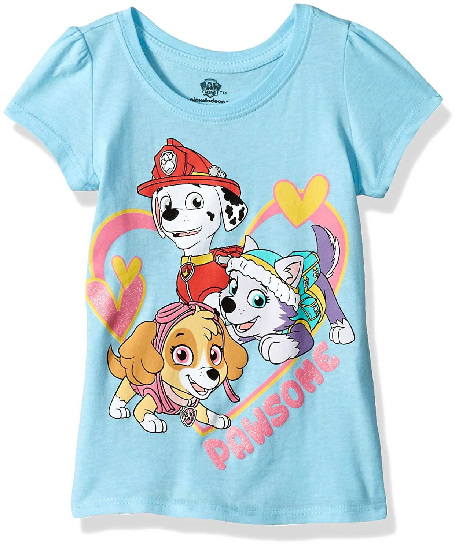 Nickelodeon Little Girls' Paw Patrol Toddler Girls Short Sleeve T-Shirt Freeze Children's Apparel ABST116-1T41