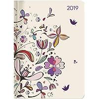 """Agenda settimanale Ladytimer 2019 """"Flower art"""" 10,7x15,2 cm"""