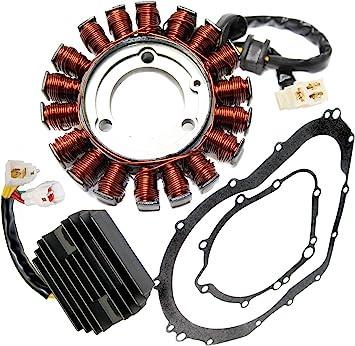 Zsoog Regulator Rectifier /& Stator With Gasket for SUZUKI GSXR 600 750 2006 2007 2008 2009 2010 2011 2012