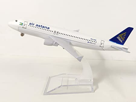DBETS Air Astana Airbus A320 16 cm Diecast Metal Aircraft Model with Acrylic Stand