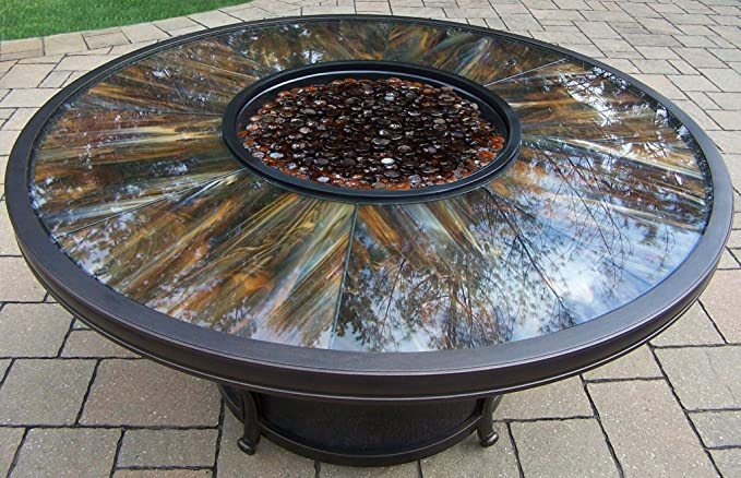 Amazon.com: 5 piezas de vidrio redondo parte superior Fuego ...