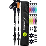 TrailBuddy Trekking Poles - 2-pc Pack Adjustable Hiking or Walking Sticks - Strong, Lightweight Aluminum 7075 - Quick Adjust