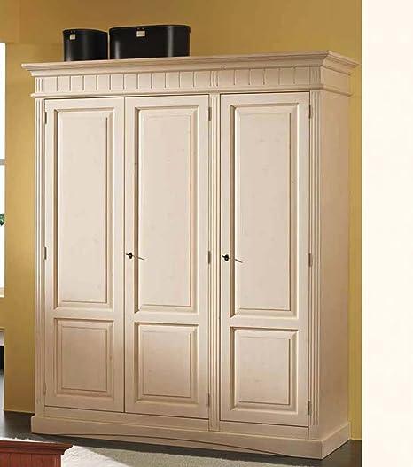 Gradel Lara 3-Part wardrobe (disassembled) in solid spruce, White ...