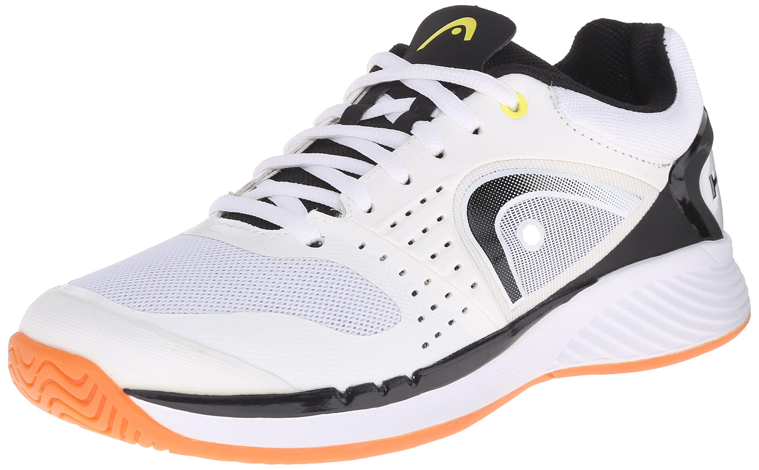 Head Men's Sprint Pro Indoor Low Shoe, White/Black, 7.5 M US