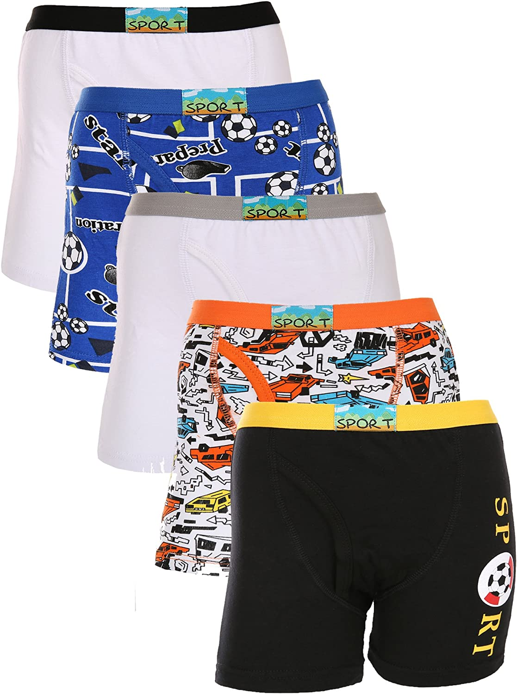 Boys Pack of 5 Seamless Boxer Briefs Comfort Boxer Underwear