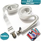 Bed Sheet Straps Set of 2 Suspender Clips for Bed Covers Adjustable Bedding Accessories