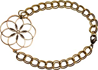 product image for 7 Rings of Peace Peace Bronze Link Bracelet