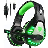 Pacrate Stereo Gaming Headset for PS4, PS5, Xbox One, PC with Noise Cancelling Mic - Surround Sound Gaming Headphones…