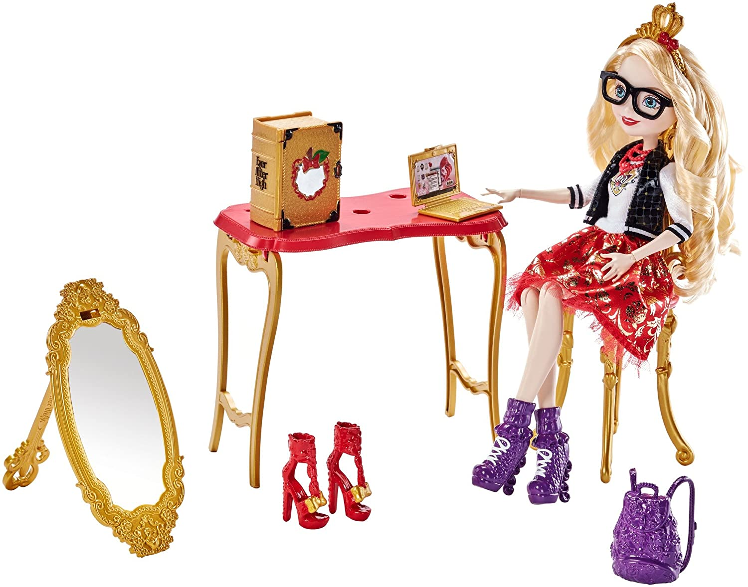 Swell Ever After High Apple White Room To Study Doll Machost Co Dining Chair Design Ideas Machostcouk