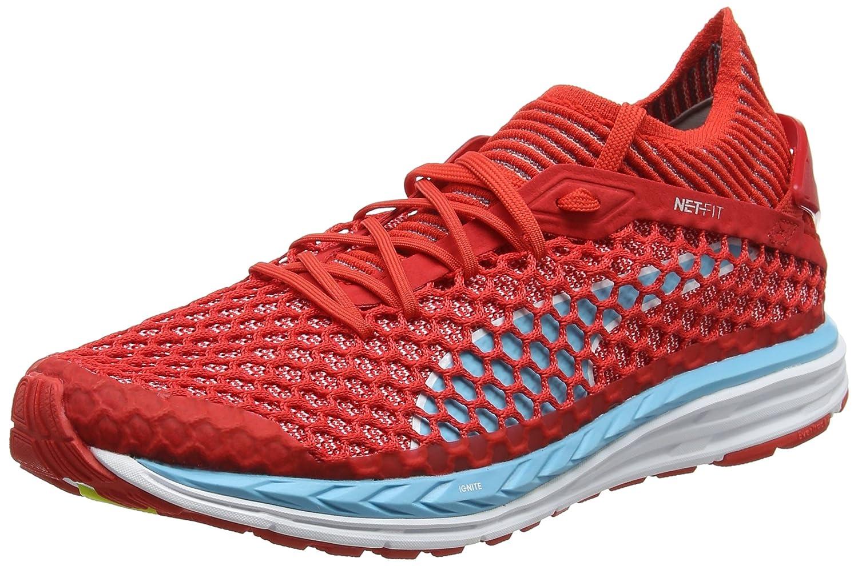 Puma Women's Speed Ignite Netfit Wn Poppy Red, Nrgy Turquoise and White Running Shoes-5.5 UK/India