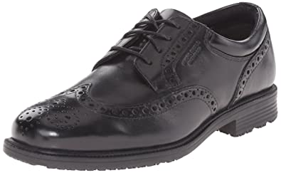 Rockport Men's Essential Details Water Proof Wing Tip Oxford,Black,6.5 ...