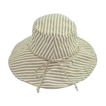 dbd7b99c8 Amazon.com: Striped fisherman hat Summer Sun visor Hat Ms. Bow ...
