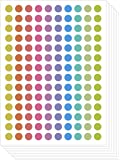Assorted Pastel Colors Round Labels Dot Stickers Kit DIY (10mm, 10 sheets)