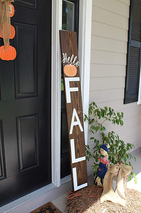 Smithfarmco Wooden Sign Front Porch Outdoor Fall Décor Fall Forch Decorations For Outside Fall Décor Outdoor Fall Decorations