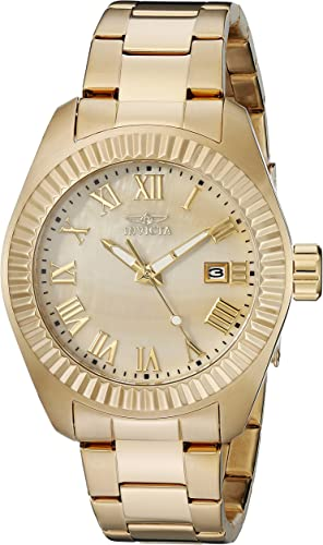 Invicta Reloj De Cuarzo Para Mujer 1 575 In Acero Inoxidable Color Dorado Modelo 20316 Watches