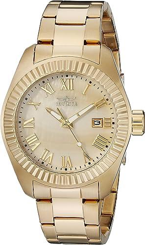 Invicta Reloj De Cuarzo Para Mujer 1 575 In Acero Inoxidable Color Dorado Modelo 20316 Watches