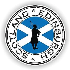 Tiukiu Scotland Edinburgh Vinyl Sticker Round Flag for Laptop Book Fridge Guitar Motorcycle Helmet Toolbox Door Luggage Cases