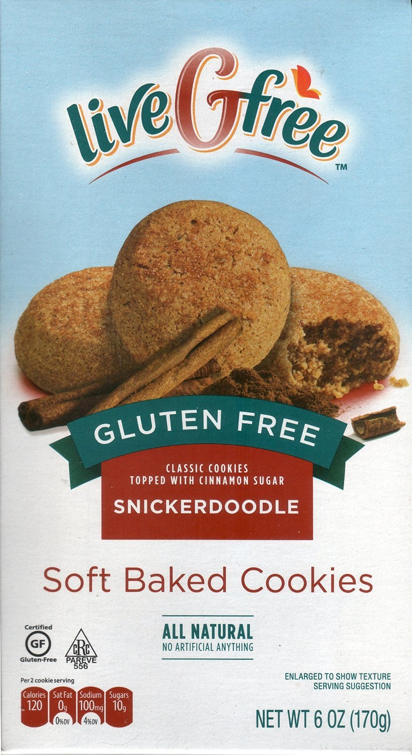 Live G Free Gluten Free Snickerdoodle Soft Baked Cookies (Pack of 2) by Live G Free