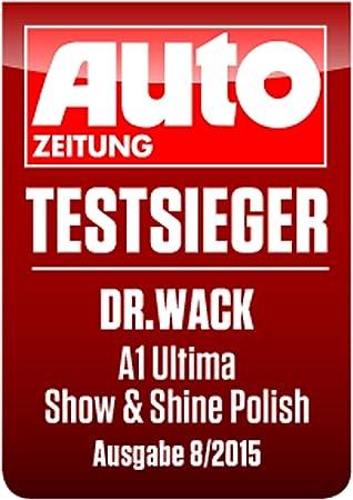 Dr Wack A1 Ultima Show Shine Polish 250 Ml Inkl Spezialschwamm Mikrofasertuch I Premium Auto Politur Zur Entfernung Von Feinkratzern I Für Alle Lacke I Hochwertige Autopflege Made In Germany Amazon De