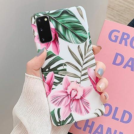 NSSTAR Compatible avec Samsung Galaxy S20 Coque Fleur Feuilles Motif Cr/éatif Coque Souple Doux TPU Silicone Anti-Choc Protection Cover Housse Ultra Fine Bumper L/éger Case /Étui,Fleur Blanc