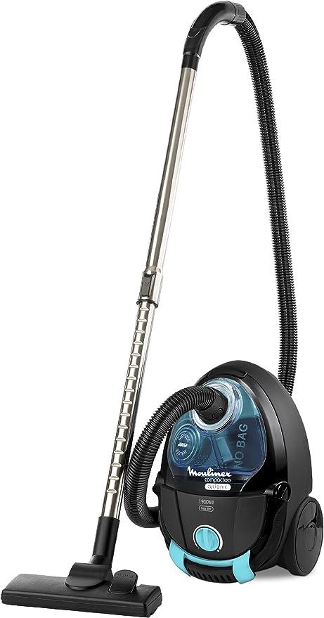 Moulinex MO453101 Compacteo Cyclonic - Aspirador sin bolsa (1900 W), color negro y azul: Amazon.es: Hogar