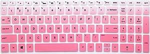 "Silicone Keyboard Cover Skin for for 15.6"" HP Pavilion x360 15-br075nr, Pavilion 15-cc 15-cb Series 15-cc010nr 15-cb010nr, HP Envy x360 15m-bp 15m-bq Series, HP Envy 17.3"" 17m-ae011dx (Ombre Pink)"