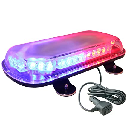 LAMPHUS SolarBlast Roof-Top Mount 34W LED Police Personal Vehicle Strobe  Warning Mini Light Bars AVAILABLE – BLUE RED