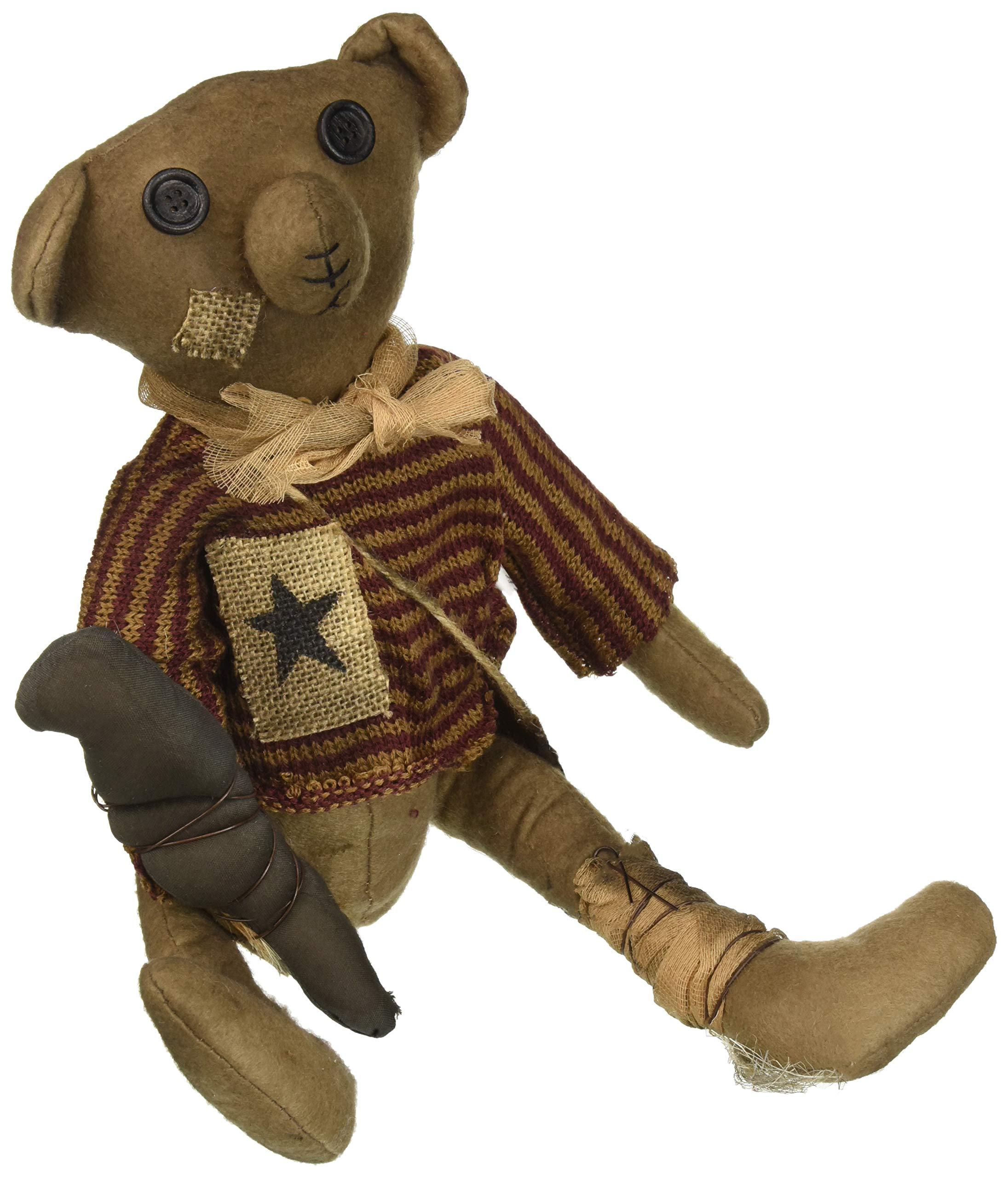 CWI Gifts Robert E Bear Doll, Multicolored by CWI Gifts (Image #1)