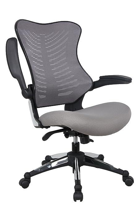 amazon com office factor gray office chair ergonomic lumbar