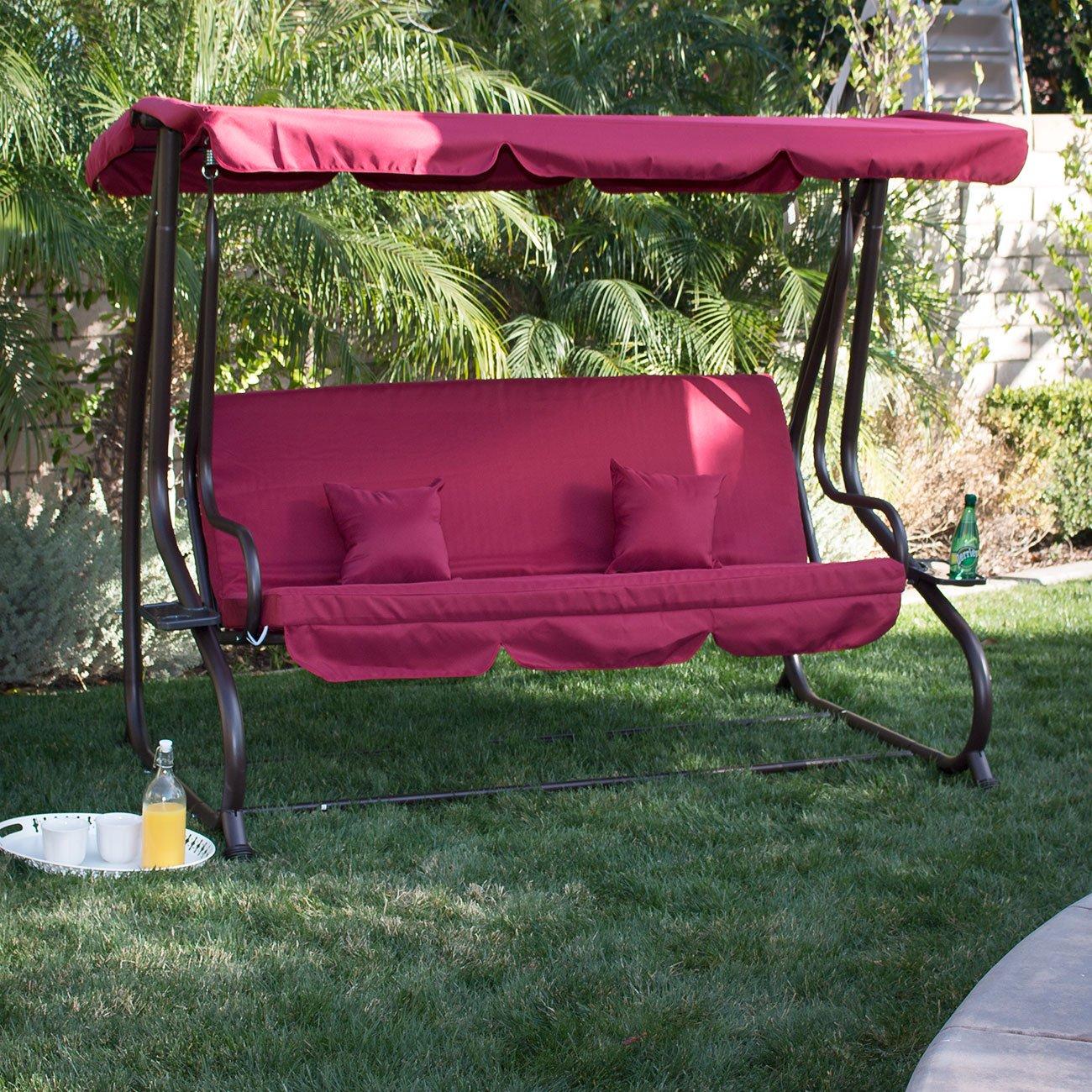 Amazoncom Belleze 3 Seat Porch u0026