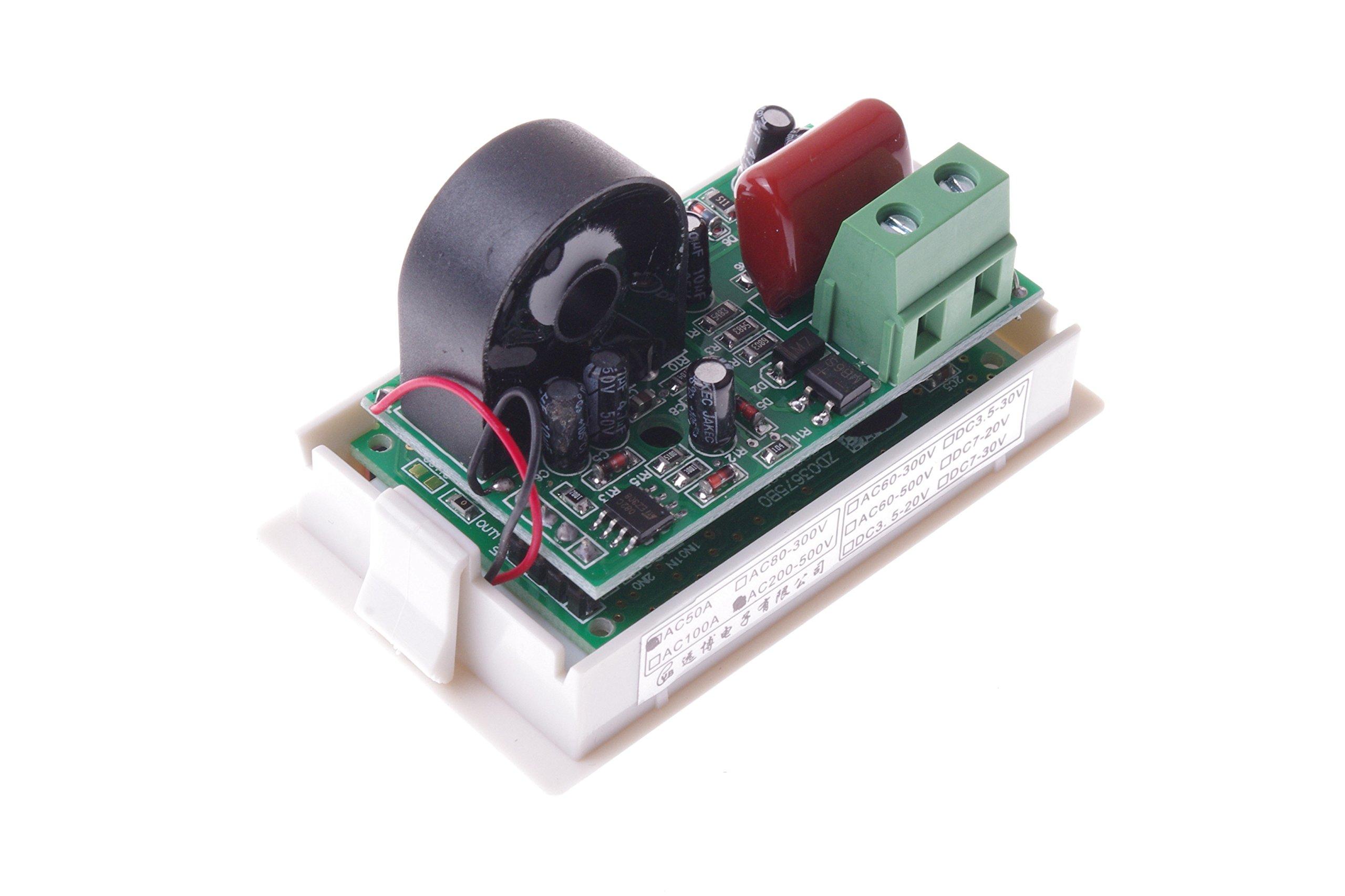 SMAKN AC 200-500V/50A Digital LCD Display Voltmeter Amperemeter Volt Gauge+Current Measure Sense Resistor by SMAKN (Image #8)