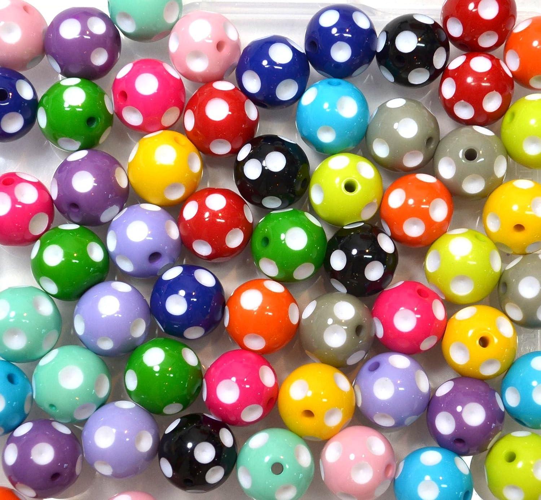 10 pieces 20mm mint green polka dot chunky bubblegum beads DIY necklace