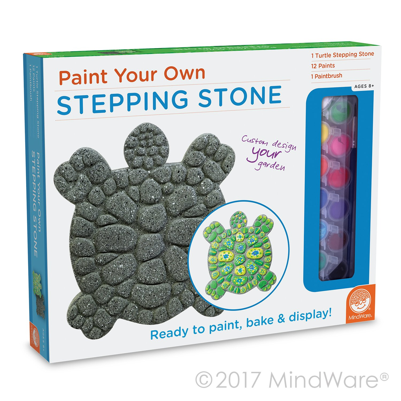 Amazon mindware paint your own stepping stone turtle toys games maxwellsz