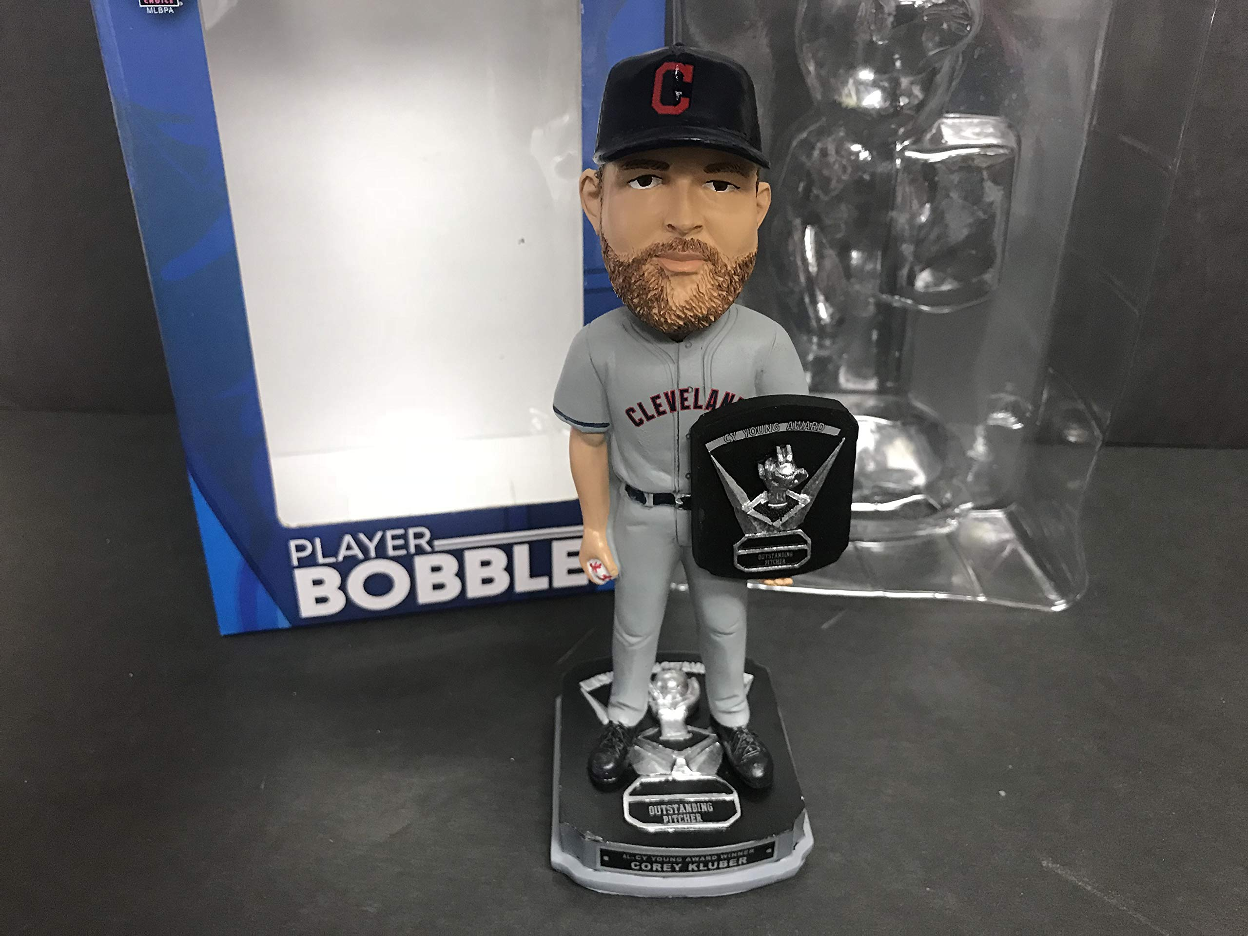 Corey Kluber 2017 CY YOUNG AWARD WINNER Cleveland Indians Limited Edition Bobble Bobblehead