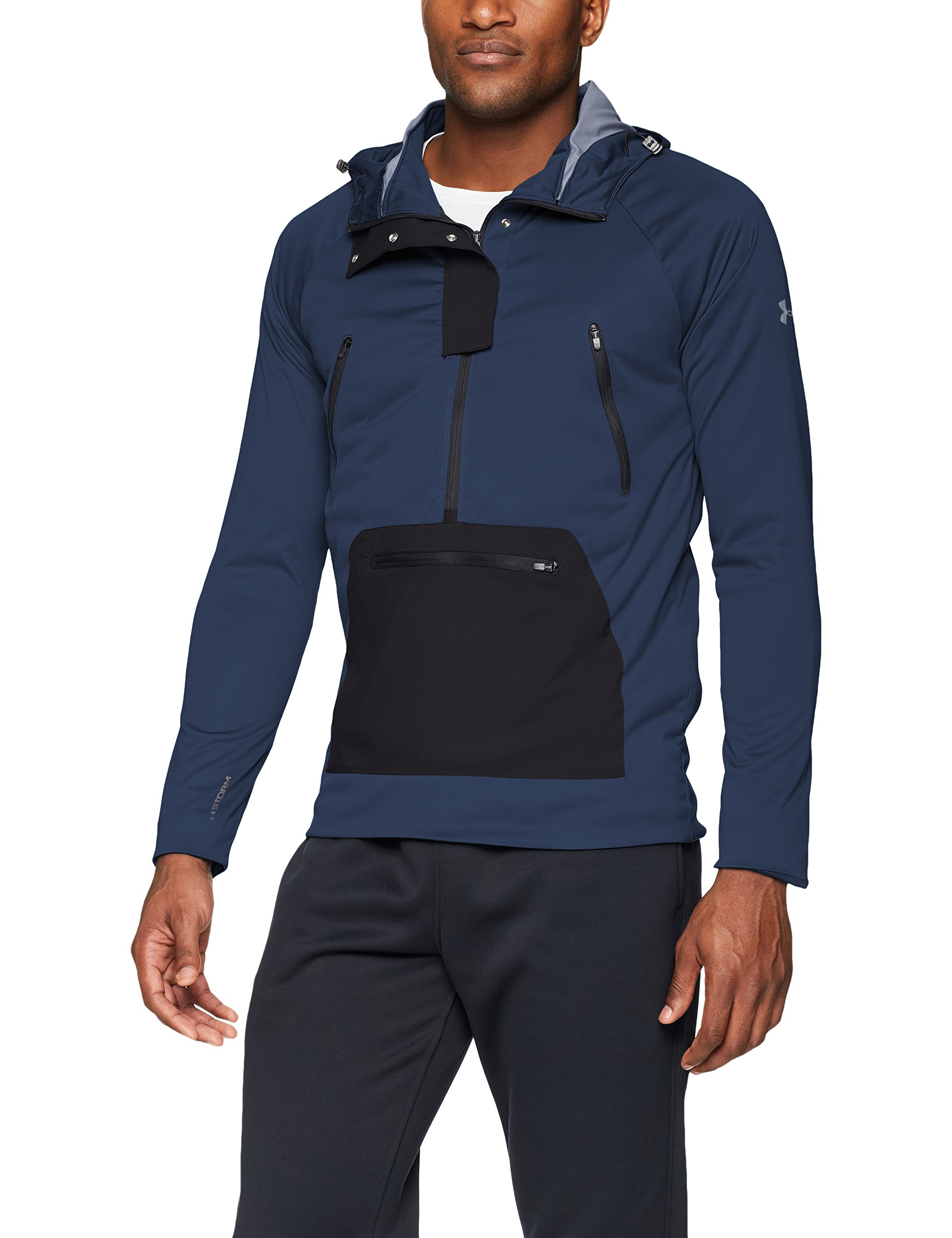 Under Armour Men's Storm Define The Anorak Jacket , Academy (408)/Reflective, Small by Under Armour (Image #1)
