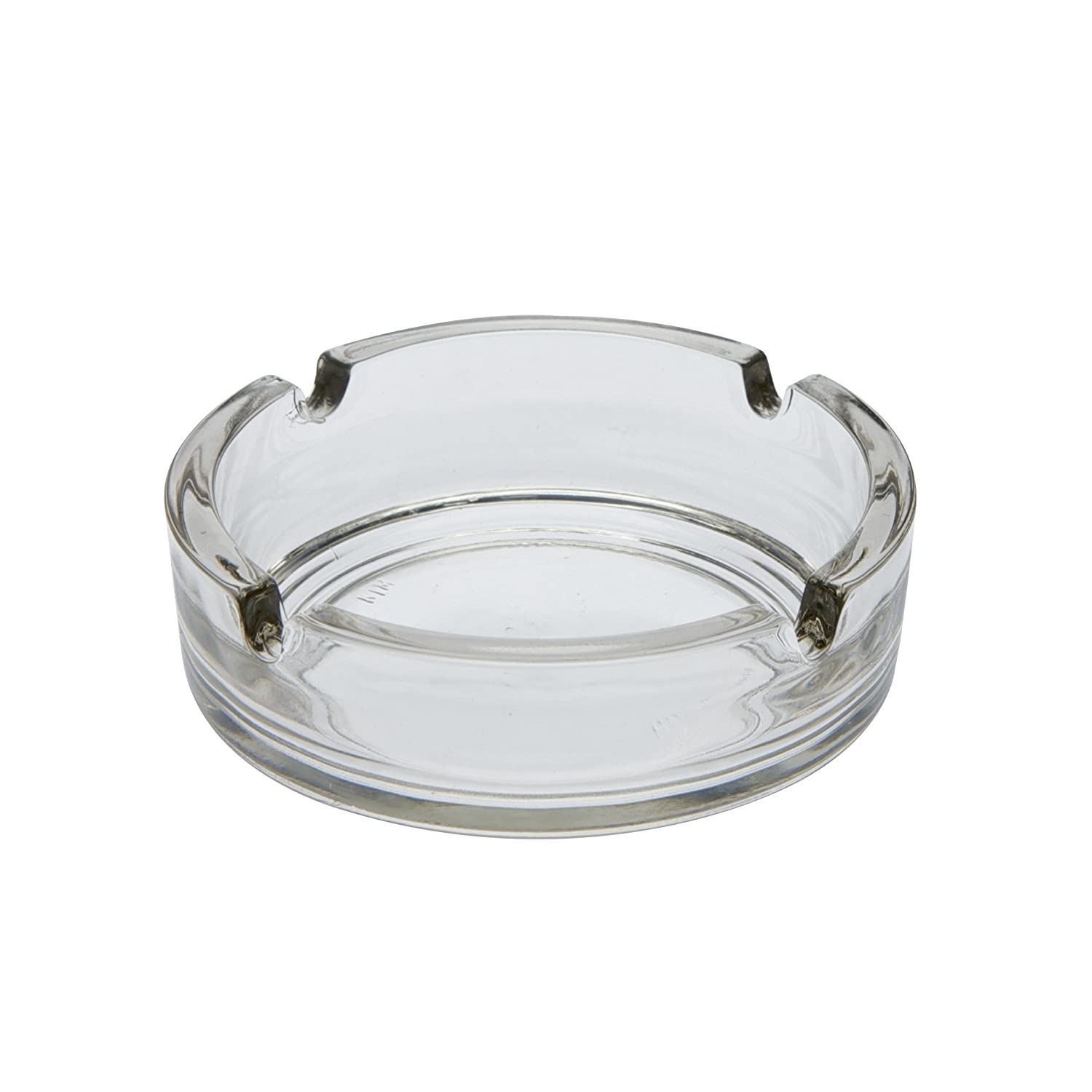 Arcoroc Glass Ashtray, Glass, black, 1 Stück - Ø 8.5cm 55878