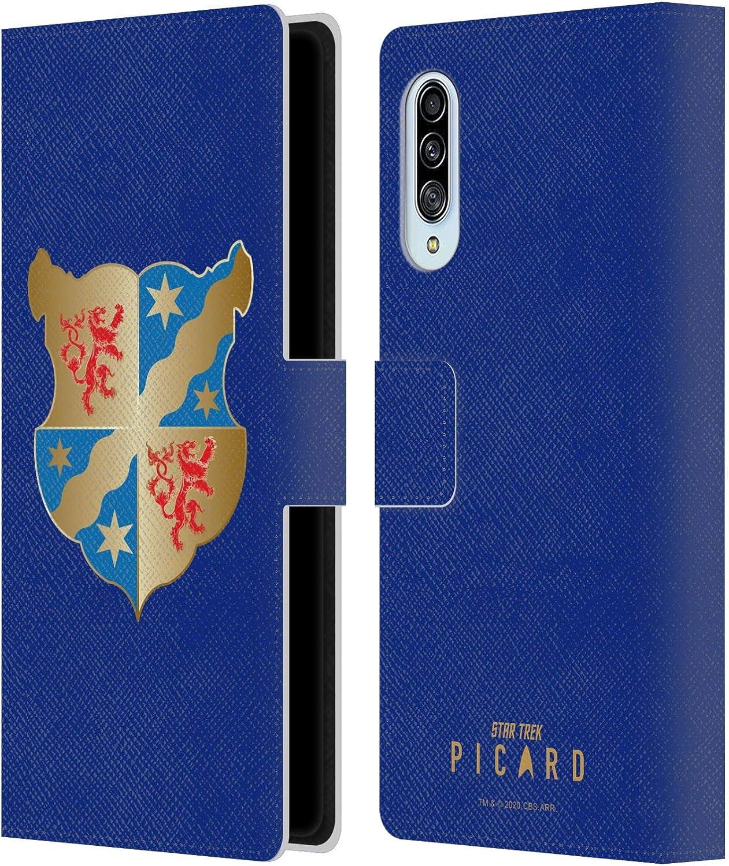 Oficial Star Trek: Picard Escudo De Armas Insignias Carcasa de Cuero Tipo Libro Compatible con Samsung Galaxy A90 5G (2019)