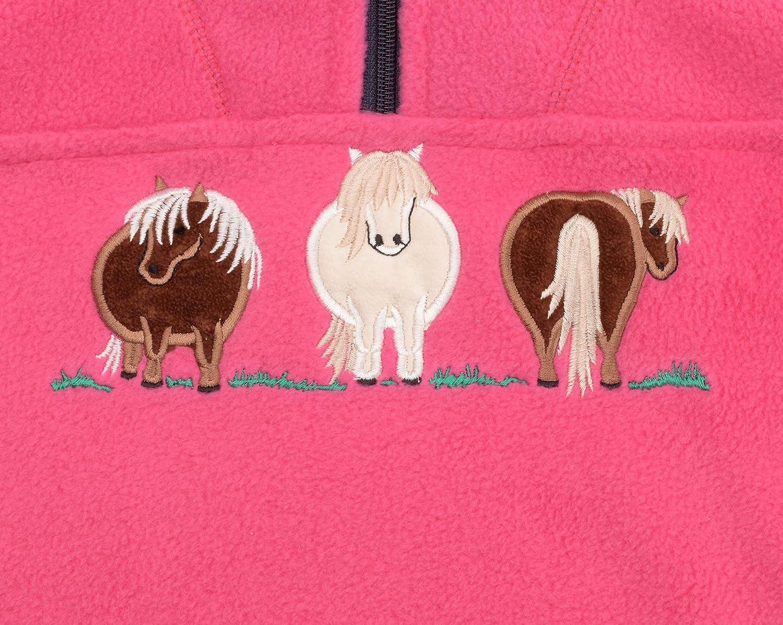 Lambland Childrens Pony Pink Fleece Sweater