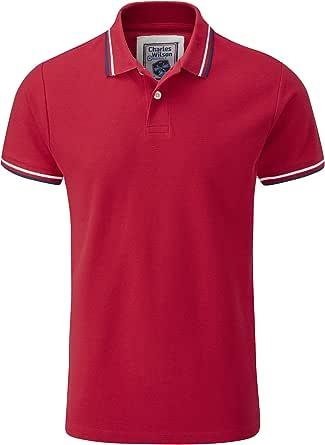 Charles Wilson Camiseta Polo Cuello con Raya de Contraste