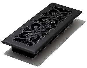 Decor Grates ST310 Floor Register, 3-Inch by 10-Inch, Textured Black