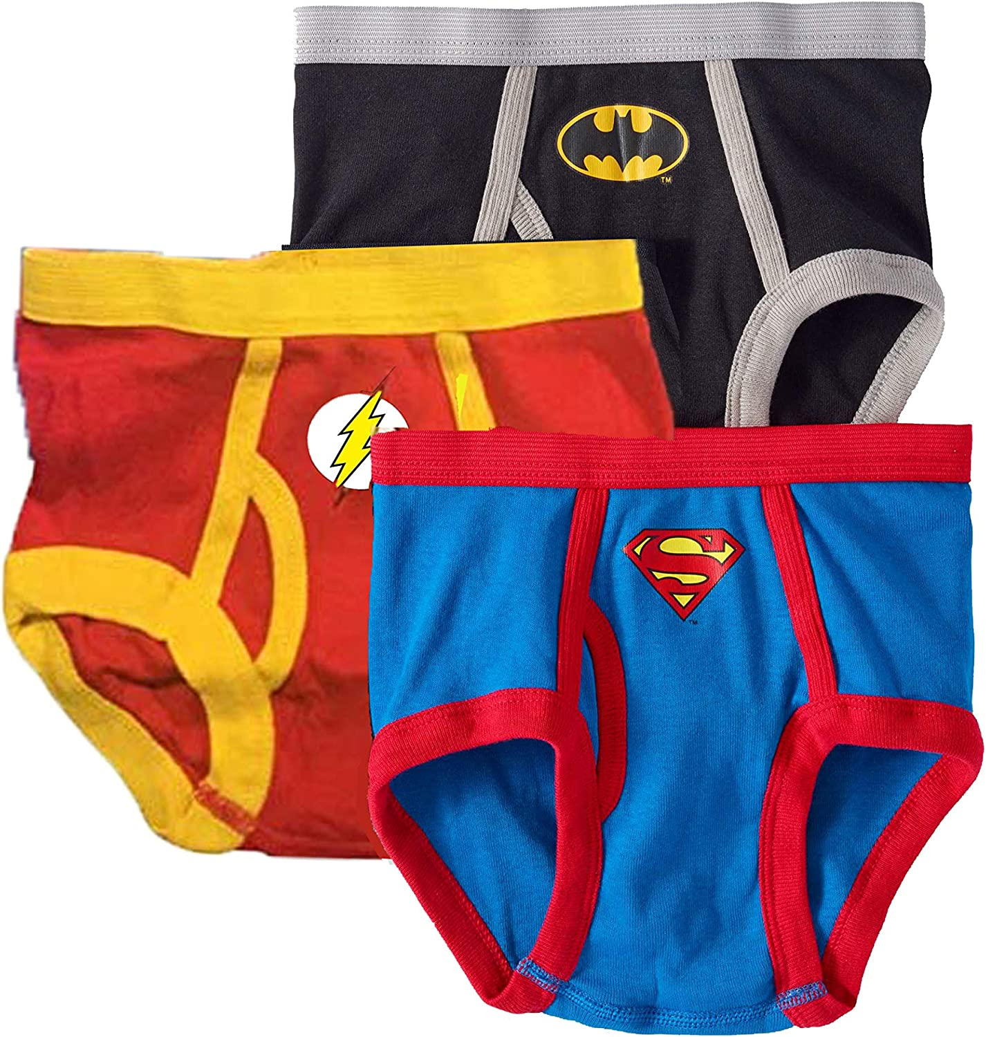 4 Marvel Justice League Boys Underwear Multi-Character 3 Pack