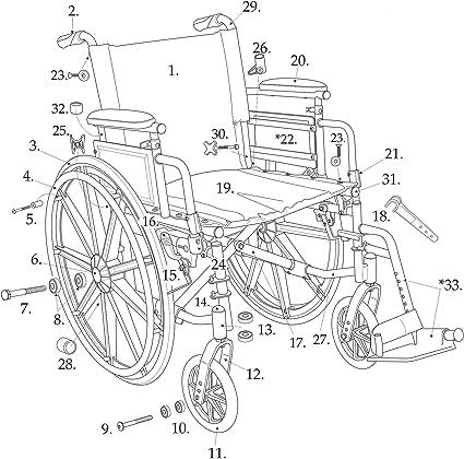 Amazon.com: Drive partes para Cirrus IV sillas de ruedas ...