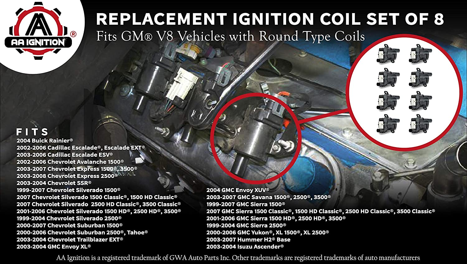 New Ignition Coil Wire Chevy Olds Yukon Suburban Sedan Chevrolet Silverado 1500
