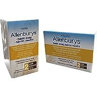 Allenburys Gentle Oatmeal & Coconut Oil Bar Soap | Ideal for Sensitive Skin | 2 Bars