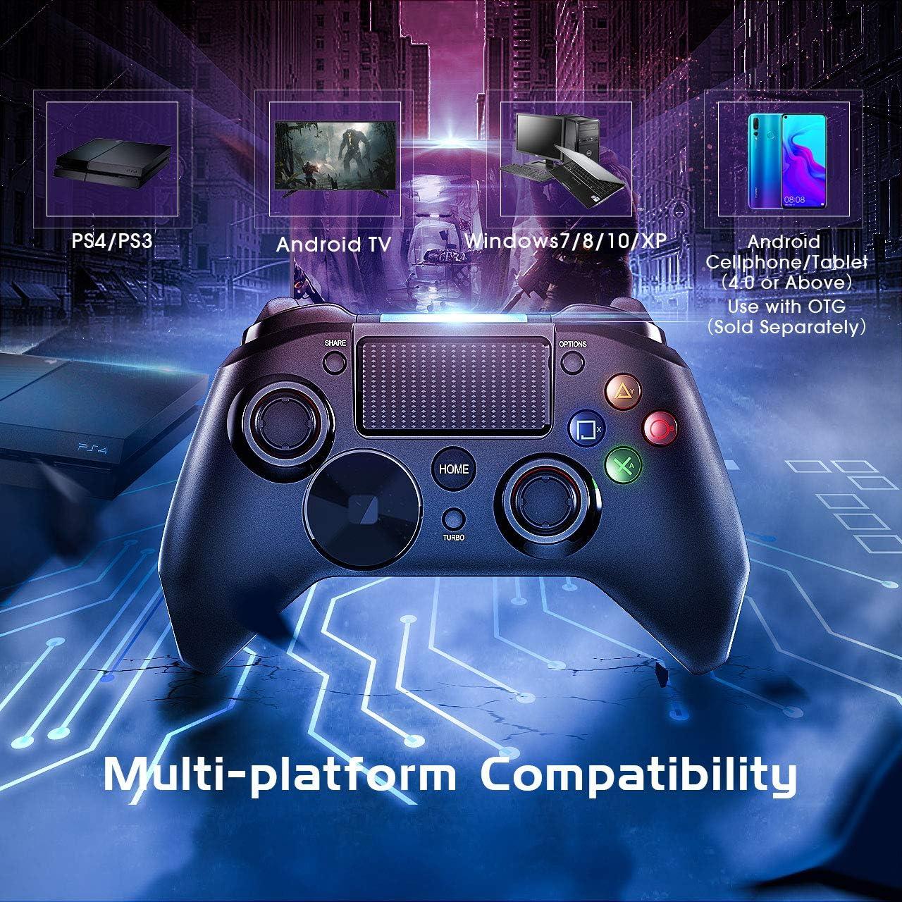 Mpow Wired Controller Juego, PS4 regulador del Juego, Juego USB ...