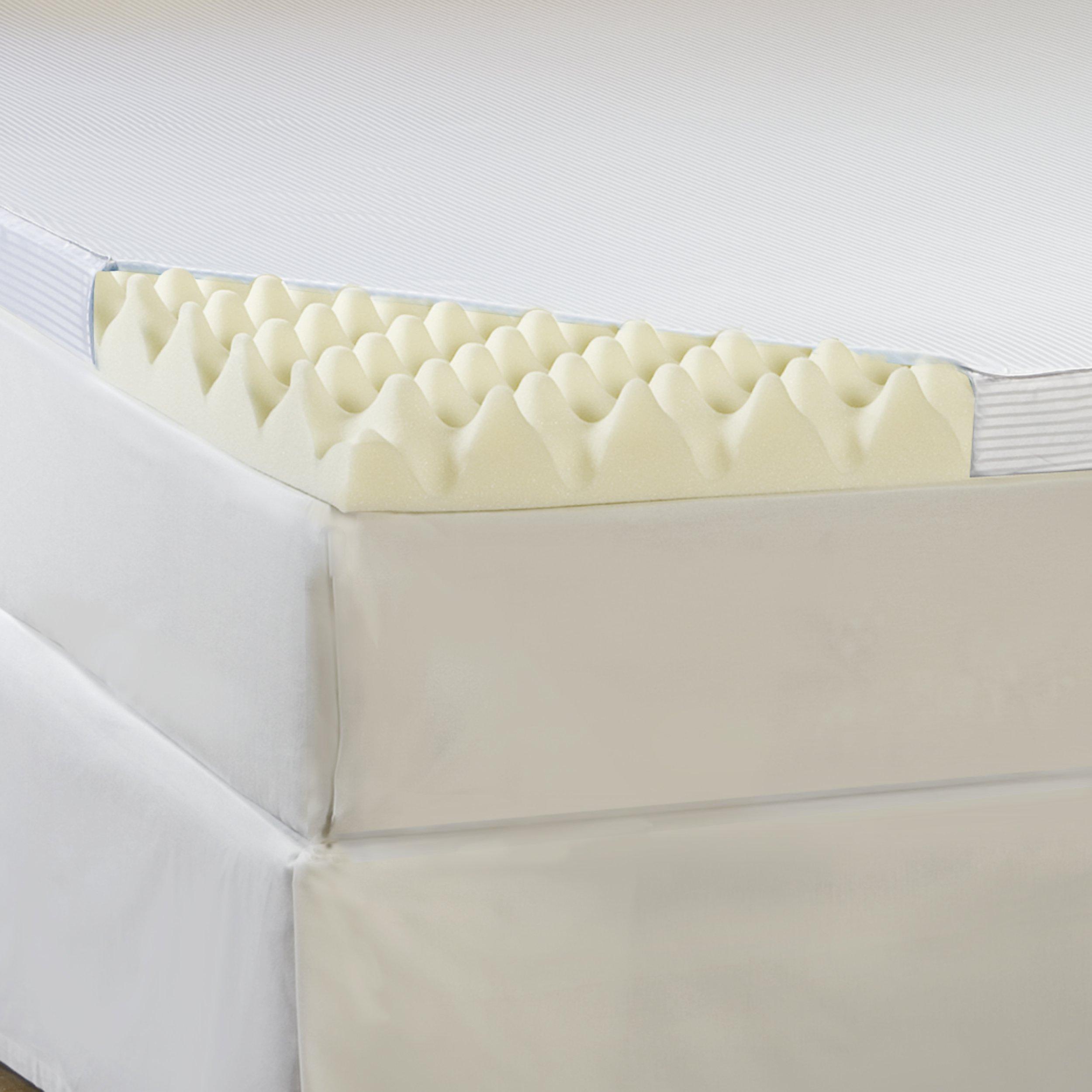 Hotel Comfort 3-Inch Big Comfort Memory Foam Topper with Polysilk Cover, Queen