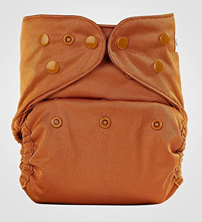 Bumberry Reusable Diaper Cover and 1 Natural Bamboo Cotton Insert (Chocolate Brown) Diaper Covers at amazon