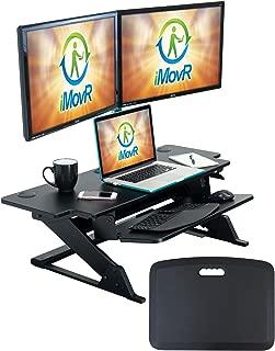 "product image for iMovR ZipLift+ Wide Standing Desk Converter, Black, 42"""