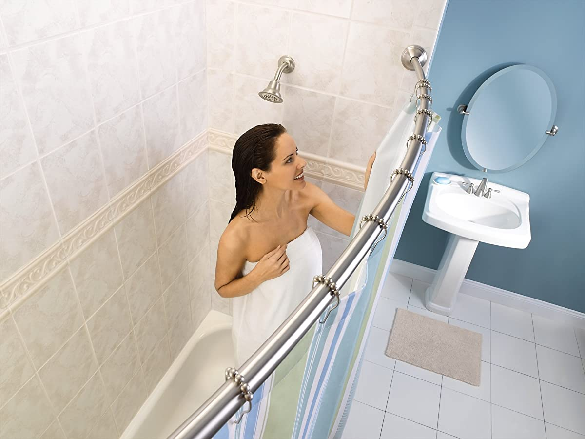 Moen DN6892BN Sage Bathroom Oval Tilting Mirror, Brushed Nickel